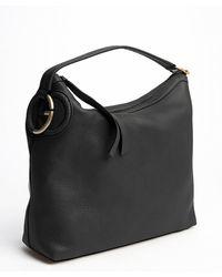 Gucci Black Leather Tassel Zip Hobo - Lyst