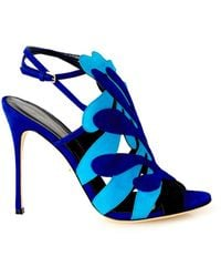 Sergio Rossi Matisse Cut-Out Suede Sandals - Lyst