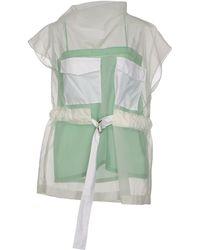 Celine Blouse green - Lyst