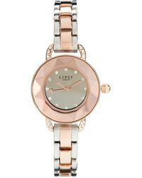Lipsy - Silverrose Gold Colored Bracelet Watch with Rose Gold Dial - Lyst