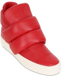 Giuseppe Zanotti Homme Padded Leather High Top Sneakers - Lyst