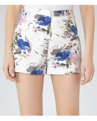 Reiss Alexis Printed Shorts - Lyst