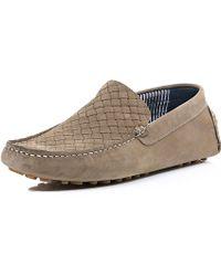River Island Dark Beige Nubuck Woven Driving Shoes - Lyst