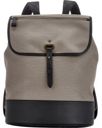Tomas Maier Gray Flap-Front Backpack - Lyst