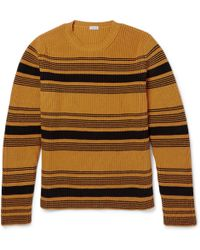 Loewe Striped Chunky Knit Cotton Blend Sweater - Lyst