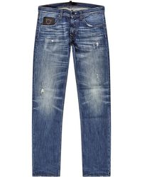 7 For All Mankind Studded Straight Leg Jeans - Lyst