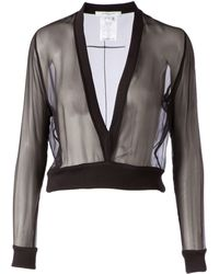 Givenchy Cropped Sheer Top - Lyst