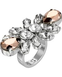 Mews London - Rose Knuckle Crystal Ring - Lyst
