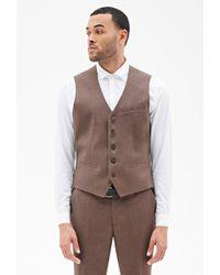21men Satin-Back Suit Vest 21 Men - Lyst