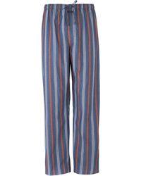 Calvin Klein Cotton 39bank39 Stripe Pyjama Pant Blue Stripe - Lyst