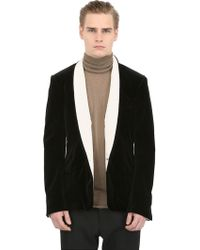Haider Ackermann Velvet Cotton Jacket - Lyst