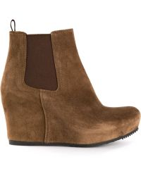 Car Shoe Wedge Ankle Boots - Lyst