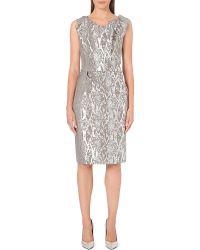 Vivienne Westwood Anglomania Ocean Metallic Snake-print Dress Grey - Lyst