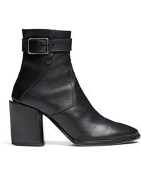 Helmut Lang Leather Buckle Boot - Lyst
