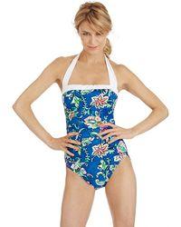 Lauren by Ralph Lauren Batik Floral Bel Aire One Piece Swimsuit - Lyst