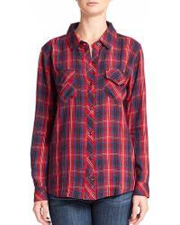 Rails Carmen Plaid Shirt - Lyst
