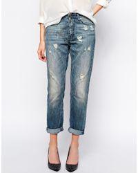 SuperTrash | Player Boyfriend Jeans With Distressed Detail | Lyst