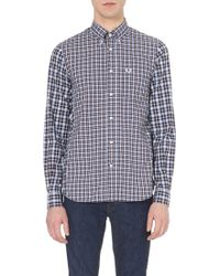 Fred Perry Tartan-Check Cotton Shirt - For Men - Lyst