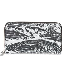 Kenzo Pacific Print Leather Purse White - Lyst