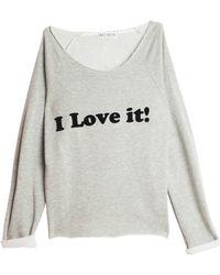 Wildfox Caption Sweater - Lyst