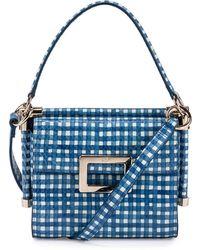 0c667dd073 Roger Vivier - Miss Viv Carre Mini Gingham-Print Shoulder Bag - Lyst