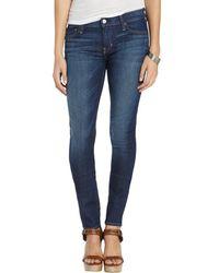 Textile Elizabeth and James Wildflower Wash Stretch Cotton 'Debbie' Skinny Jeans - Lyst