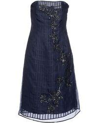 Ferragamo Short Dress - Lyst