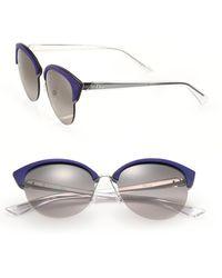 Dior | Clubmaster Round 65mm Metal Sunglasses | Lyst