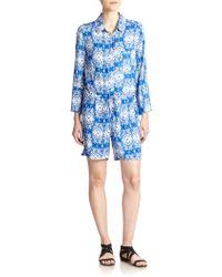 Felicite Printed Short Jumpsuit - Lyst
