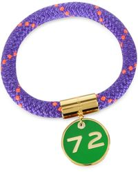 Marc By Marc Jacobs - Purple Nylon and Golden Brass 72 Location Bangle - Lyst