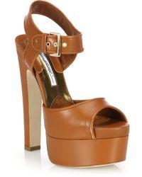 Brian Atwood | Karin Leather Platform Sandals | Lyst