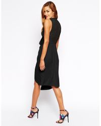 Asos Drape Front With Lattice Back - Lyst