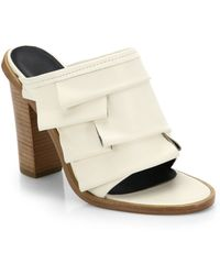 Tibi Chase Tiered Leather Mule Sandals - Lyst