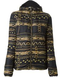 Versus  Chain Print Padded Jacket - Lyst