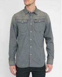 G-Star RAW | Grey 3301 Press-studs Slim-fit Shirt | Lyst