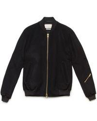 Oliver Spencer Navy Wool Bermondsey Bomber Jacket black - Lyst