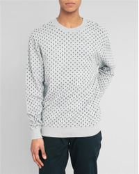 Knowledge Cotton Apparel Grey Round Neck Sweater With All Over Owl Print gray - Lyst