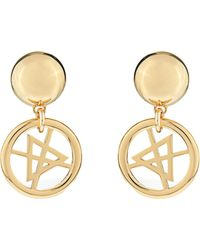 Moschino Dry Cleaning Sign Earrings - Lyst