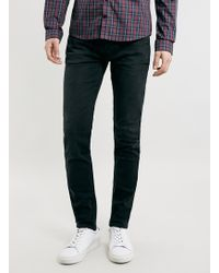 Lac Washed Bk Stretch Skinny Fit Jeans - Lyst