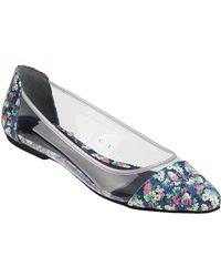 Rebecca Minkoff Isadora Ballet Flat Clear/Floral Leather - Lyst