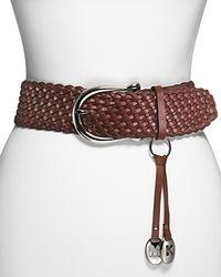 MICHAEL Michael Kors - Braided Leather Belt - Lyst