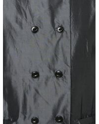 Dosa - Double Breasted Satin Coat - Lyst