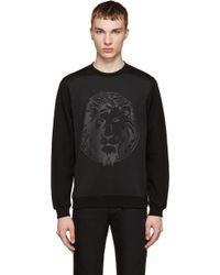 Versus  | Black Embossed Lion Sweatshirt | Lyst