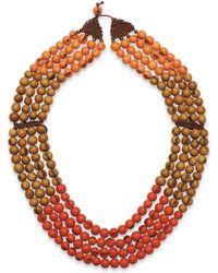 Greenola Style - Orange Colorblock Cascade Necklace - Lyst