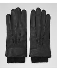 Reiss - Booth Cuffed Leather Gloves - Lyst