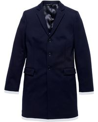 Patrizia Pepe Double Faced Technical Jersey Coat - Lyst