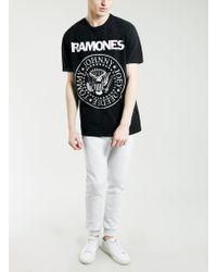 Topman Black Ramones Tour 77 T-shirt - Lyst
