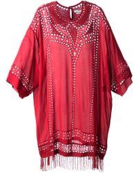 Etoile Isabel Marant Enery Sheer Dress - Lyst