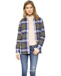 Equipment Monroe Flannel Jacket  Four Leaf Clover - Lyst