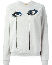 Peter Jensen - Embroidered Eye Sweatshirt - Lyst